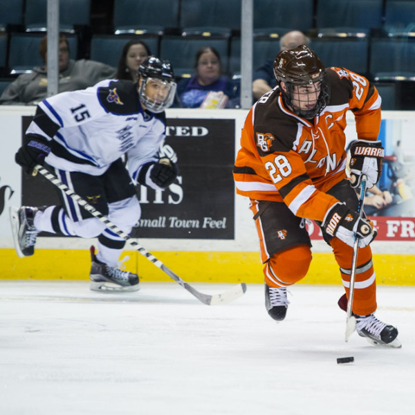 Sean Walker (28) will be Bowling Green's captain again this season (Photo by Todd Pavlack/BGSUHockey.com)
